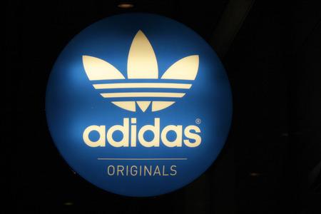 adidas: Brand Name: adidas , December 2013 in Berlin. Editorial