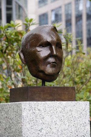 ludwig: Ludwig Erhard bust, Berlin-Tiergarten.