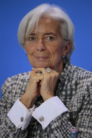 Christine Lagarde - meeting between the Chancellor and the President of international economic and financial organizations, Federal Chancellery, March 11, 2015 in Berlin. Editorial
