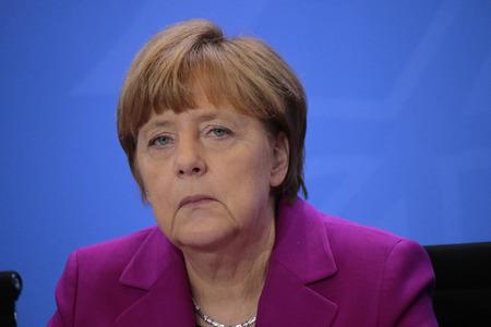 BKin Angela Merkel - Bundeskanzlerin der Treffen mit den Präsidenten der internationalen Wirtschafts- und Finanzorganisationen, Bundeskanzleramt, 11. März 2015 in Berlin.