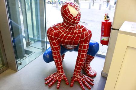 spiderman: Spiderman figurine, Berlin.