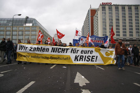 pay for: We will not pay for your crisis - Impressions of the Demonstration We will not pay for your crisis, 28 March 2009, Berlin-Mitte Editorial