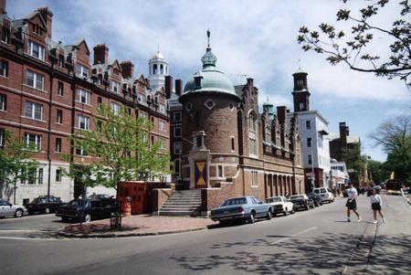 harvard university: On the campus of Harvard University Editorial