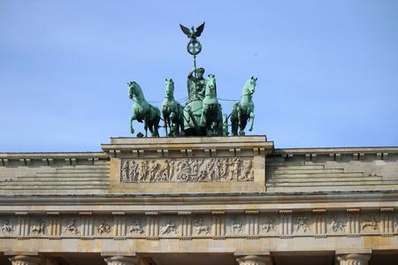 quadriga: Quadriga, Brandenburg Gate, Pariser Platz, Berlin-Mitte.