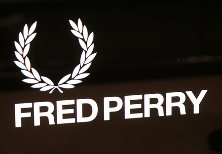 "perry: Brand names:  ""Fred Perry "", Berlin."