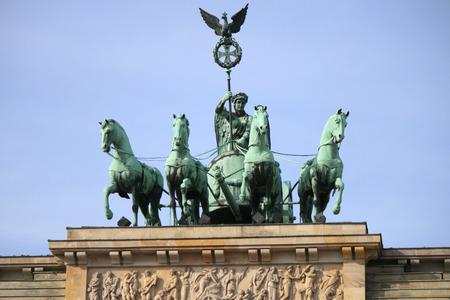 quadriga: Quadriga Brandenburg Gate Pariser Platz Berlin Mitte.