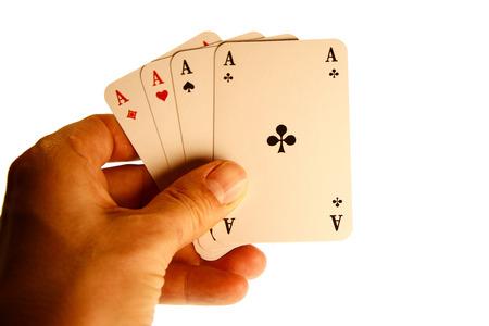 skat: Aces Symbolbild card game card game. Stock Photo