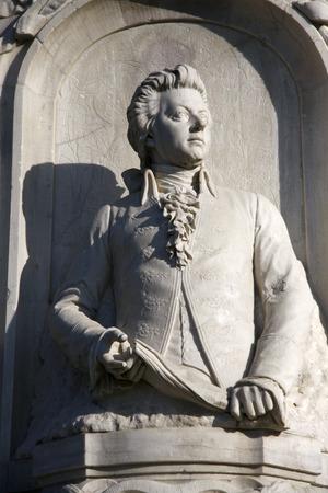 mozart: Wolfgang Amadeus Mozart memorial in Berlin39s Tiergarten.