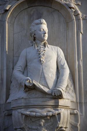 amadeus mozart: Mozart Memorial, Tiergarten.