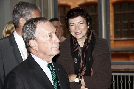 Michael Bloomberg mit seiner Lebensgefährtin, Diana Taylor - Besuch der New Yorker Meister in seinem Berliner Amtskollegen, Berliner Rathaus, 5. Oktober 2008, Berlin-Mitte.