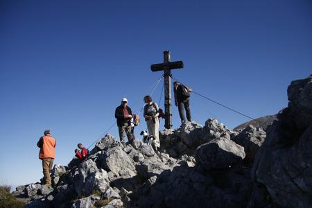 berchtesgaden: Gipfelkreuz Jenner Alps near Berchtesgaden Bavaria. Editorial