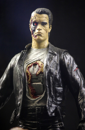 terminator: Figure of the Terminator from the movie of the same name played by Arnold Schwarzenegger Berlin.