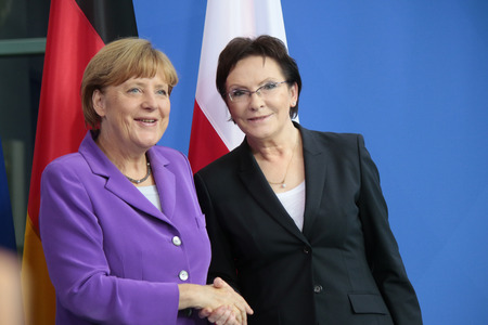 chancellor: BKin Angela Merkel, Ewa Kopacz - Meeting of the German Chancellor and the Polish Minister President, the Federal Chancellery, October 9, 2014 in Berlin.. Editorial