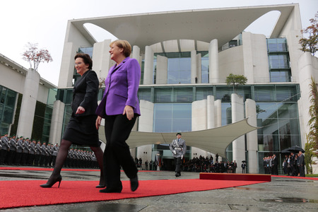 chancellor: Ewa Kopacz, BKin Angela Merkel - Meeting of German Chancellor with the Polish Minister President, the Federal Chancellery, October 9, 2014 in Berlin..