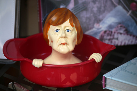 funny Angela Merkel Figur, Berlin. Editorial