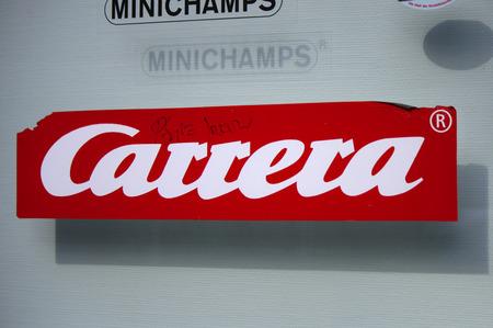 carrera: Brand name Carrera, Frankfurt am Main.