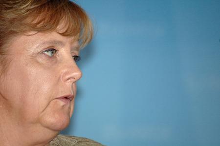 chancellerie: Angela Merkel conf�rence de nouvelles apr�s le 4 Sommet UE Canada Juin 2007, la Chancellerie f�d�rale � Berlin Tiergarten.