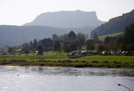saxon: Lilienstein, Elbe - Saxon Switzerland.