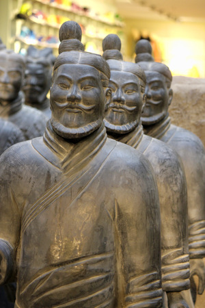 terracotta: Copies of the Chinese Terracotta Army, Terracotta Warrior, to May 2014, Gesundbrunnen Center, Berlin-Wedding. Editorial
