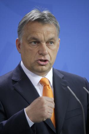 chancellerie: Viktor Orban -. R�union de la chanceli�re allemande avec le Premier ministre hongrois, la Chancellerie f�d�rale, le 8 mai 2014 � Berlin.