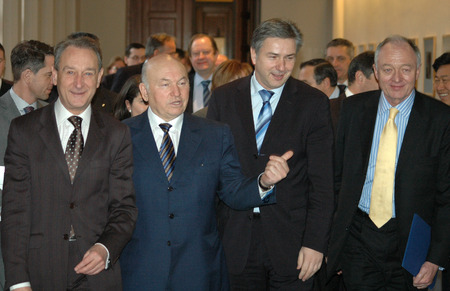 klaus: the mayors of Europes leading cities in Berlin: Bertrand Delanoe Paris, Yuri M. Luzhkov Moscow, Berlin Klaus Wowereit and Ken Livingstone London, 22 February 2006 Red Town Hall, Berlin-Mitte.