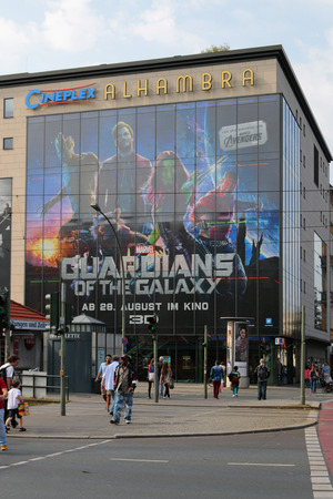 guardians: Advertising for the film Guardians of the Galaxy, Berlin. Editorial