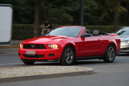 mustang: a Ford Mustang, Berlin.