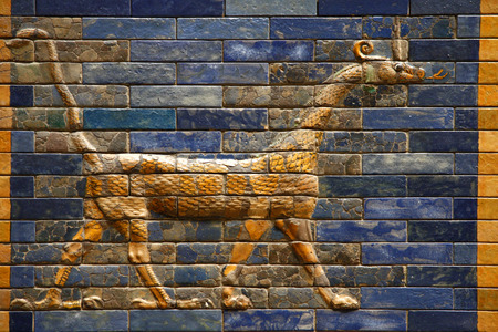 babylonian: Details: Ishtar Gate - Pergamon Museum, Museum Island, Berlin-Mitte.
