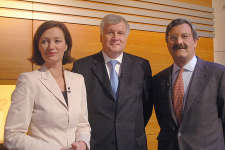 mr: Bettina Schausten, Horst Seehofer, Nikolaus Brender - TV production What now, Mr. Seehofer ZDF, broadcast: January 24, 2007 22:15 clock January 24, 2007, Berlin-Mitte. Editorial