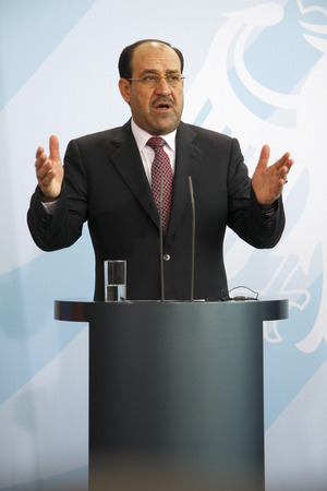 chancellerie: Nouri Al-Maliki - Press Under direction after a meeting of the Iraqi Prime Minister to the German Chancellor, July 22nd 2008, the Federal Chancellery, Berlin-Tiergarten. �ditoriale
