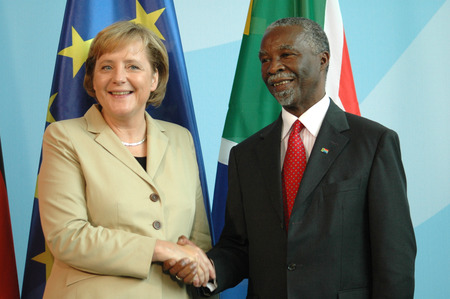 chancellor: BKin Angela Merkel, Thabo Mbeki -. Meeting of the South African president with the German Chancellor on 8 July 2006, the Federal Chancellery, Berlin-Tiergarten.