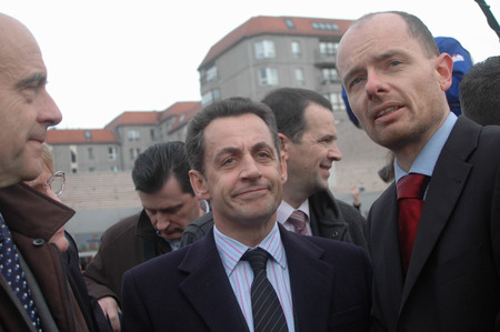 nicolas: French presidential candidate Nicolas Sarkozy on Holocaust Memorial, 12th February 2007. Berlin-Mitte. Editorial