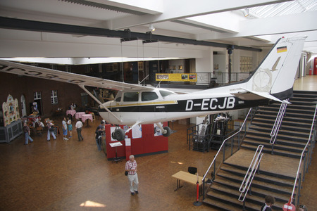 cessna: the Cessna, with Mathias Rust 1987 em Red Square in Moscow landed - German Museum of Technology, Berlin-Kreuzberg.