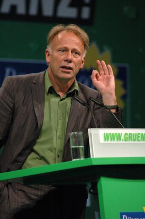 delegates: Juergen Trittin - federale delegati del congresso del Partito Verde, 9 Lug, 2005 Velodromo, Berlino-Prenzlauer Berg. Editoriali