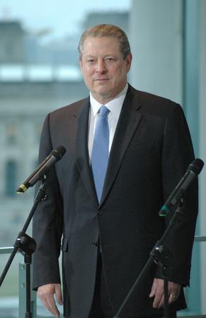 Al Gore - Treffen zwischen dem Kanzler und dem ehemaligen Vizepräsidenten der Vereinigten Staaten und frisch gebackenen Gewinner des Friedensnobelpreises am 23. Oktober 2007, das Bundeskanzleramt, Berlin-Tiergarten.