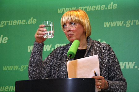 roth: Claudia Roth - press conference at the party headquarters of the Greens on 7 January 2008, Berlin-Mitte.