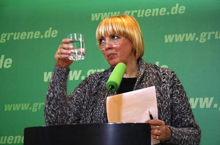 Claudia Roth - Pressekonferenz in der Parteizentrale der Grünen am 7. Januar 2008, Berlin-Mitte.