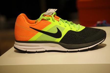 nike: Brand Name: a Nike sport shoe, December 2013 Berlin. Editorial