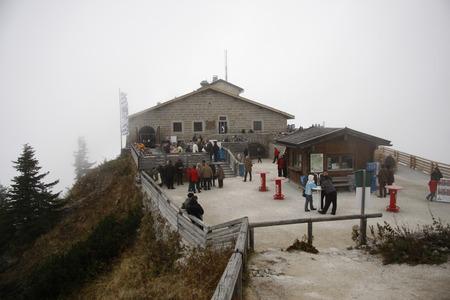 berchtesgaden: Kehlsteinhaus, Eagles Nest, Obersalzberg, Berchtesgaden, Alps near Berchtesgaden, Bavaria. Editorial