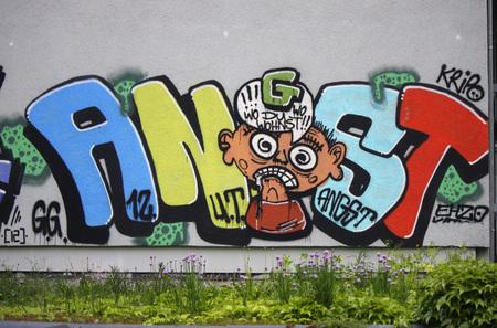 fear: Graffity: fear, Berlin.