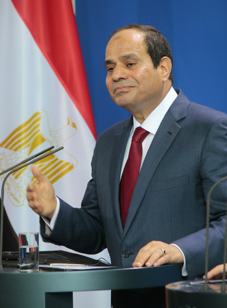 zoo as: Abd al-Fattah as Sisi - Meeting of the German Chancellor to the Egyptian President, the Federal Chancellery, June 3, 2015, Berlin..