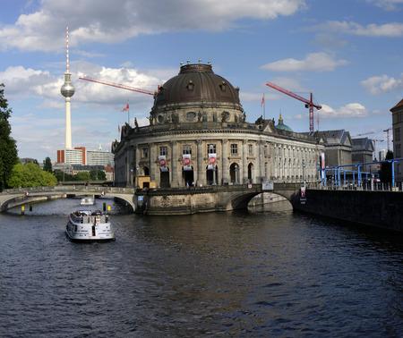 spree: Panorama: TV Tower, Bode Museum, Spree, Berlin-Mitte. Editorial