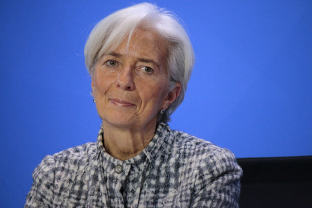 christine: Christine Lagarde - meeting between the Chancellor and the Chairman of the international financial and economic organizations, the Federal Chancellery, 11 March 2015, Berlin. Editorial