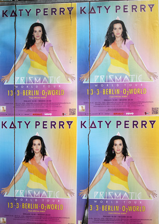 perry: Advertising poster for a concert of Katy Perry, Berlin.