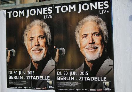 jones: Advertising poster for a concert of Tom Jones, Berlin. Editorial