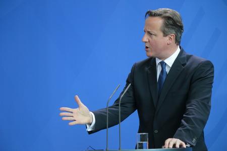 David Cameron - Sitzung des Deutsch Kanzler mit dem britischen Premierminister, Bundeskanzleramt, 29. Mai 2015 Berlin ..