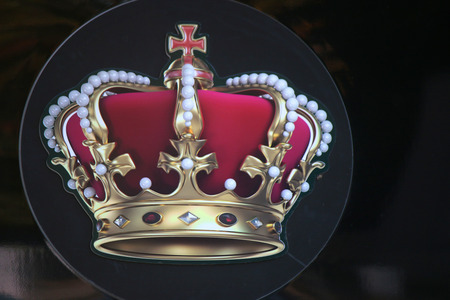 corona real: Imagen de una corona, Berlín.