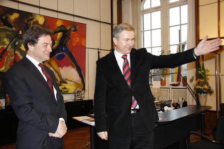 sir: Sir Michael Arthur, Klaus Wowereit - official visit of the new British ambassador in Berlin mayor, January 16th 2008, Berlin Town Hall, Berlin-Mitte. Editorial