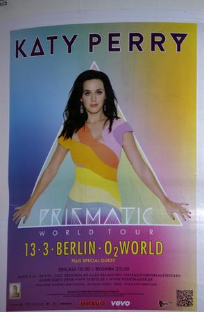 als: Plakat als Werbung fuer ein Konzert von Katy Perry, Berlin. Editorial