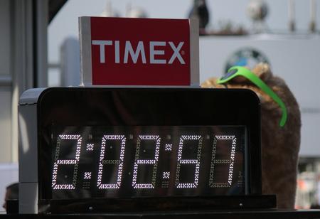 world record: The New World record time of 2:02:57 - Berlin Marathon, September 28, 2014 Berlin.